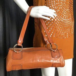Kenneth Cole Tube Leather  Shoulder Bag